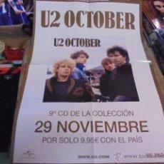 Colecionismo de cartazes: POSTER PUBLICIDAD KIOSKOS / U2 - OCTOBER - ENVIO GRATIS. Lote 54042694