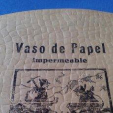 Coleccionismo de carteles: VASO DE PAPEL IMPERMEABLE, VER FOTOS.. Lote 54585836
