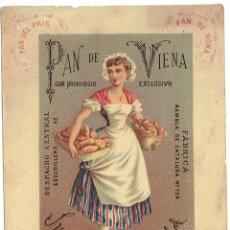 Coleccionismo de carteles: PS6157 TARJETÓN PUBLICITARIO DE PANADERÍA JULIÁN MARESMA. BARCELONA. S. XIX. Lote 198110490
