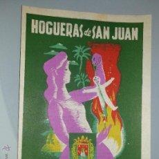 Coleccionismo de carteles: ANTIGUO PROGRAMA / LLIBRET FIESTAS HOGUERAS DE SAN JUAN - ALICANTE JUNIO DE 1955 - LIT. PLATIVAL. Lote 54851055