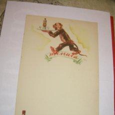 Coleccionismo de carteles: ANTIGUA MINUTA ANIS DEL MONO.. Lote 54927558