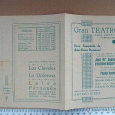 Coleccionismo de carteles: TEATRO CERVANTES DE SEVILLA - MARTES 27 DE JUNIO DE 1939. Lote 54952084