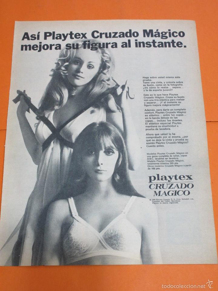 gran selección de 2019 comprar baratas elige mejor PUBLICIDAD 1969 - COLECCION ROPA - SUJETADOR CRUZADO MAGICO PLAYTEX