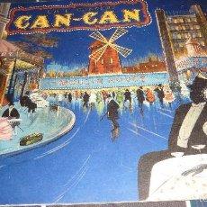 Coleccionismo de carteles: PRECIOSO CARTEL DIPTICO CAFE CONCERT CAN CAN MOULIN ROUGE AÑO 1966 MEXICO , CABARET FOTO AMIGOS. Lote 56051732