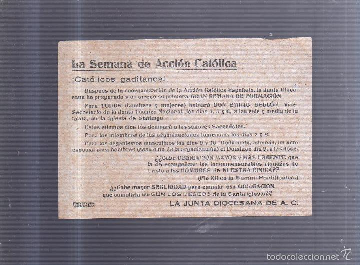 PEQUEÑO CARTEL. ACCION CATOLICA. SEMANA DE FORMACION. 15 X 11CM (Coleccionismo - Carteles Pequeño Formato)