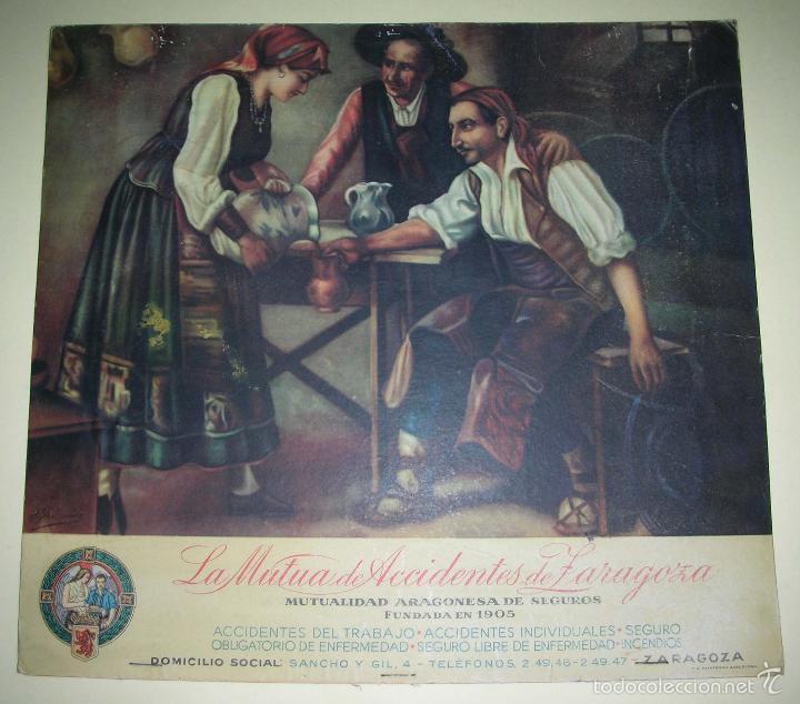 MUTUA ACCIDENTES DE ZARAGOZA, AÑOS 50 - 60 (Coleccionismo - Carteles  Pequeño Formato) 9201e43052
