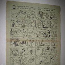 Coleccionismo de carteles: AUCA - CARTEL- CARRER PETRITXOL- MUNTAÑOLA -MIDE 32 X 43 CM-VER FOTOS-(V-5277). Lote 56302838