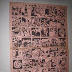 Coleccionismo de carteles: AUCA - CARTEL- LES COQUES DE VILAFRANCA -MIDE 29 X 43 CM-VER FOTOS-(V-5280). Lote 56302881