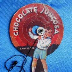 Coleccionismo de carteles: JUEGO DE HABILIDAD REGALO DE CHOCOLATE JUNCOSA, SIN FECHA.. Lote 56476156