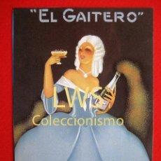 Coleccionismo de carteles: EL GAITERO - VILLAVICIOSA ASTURIAS - PUBLICIDAD IMÁGENES - BEBIDAS - SIDRA. Lote 56505372