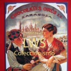 Coleccionismo de carteles: CHOCOLATES ORÚS S.A. - ZARAGOZA - PUBLICIDAD IMAGENES -. Lote 136401773