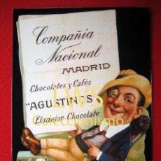 Coleccionismo de carteles: CHOCOLATES Y CAFÉS AGUSTINOS - MADRID - PUBLICIDAD IMAGENES. Lote 56515748