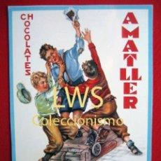 Coleccionismo de carteles: CHOCOLATES AMATLLER - BARCELONA Y BAÑOLAS - PUBLICIDAD IMÁGENES. Lote 56515939