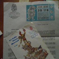 Coleccionismo de carteles: FALLA VALENCIA PLAZA LA MERCED 1967 INVITACION FALLERO DE HONOR REGALO PARTICIPACION LOTERIA. Lote 56648727