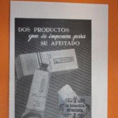 Coleccionismo de carteles: PUBLICIDAD 1953 - COLECCION PERFUMES - LUXOR PARA EL AFEITADO. Lote 56742983