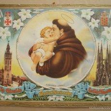 Coleccionismo de carteles: GLORIAS NACIONALES. CARTEL PUBLICIDAD. EN CARTÓN TROQUELADO. AÑO 1953.. Lote 56829930