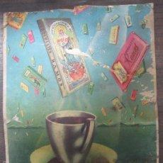 Coleccionismo de carteles: CARTEL PUBLICITARIO DE CARTÓN. CHOCOLATES RAMOS. 32 X 24,2 CM.. Lote 57103042