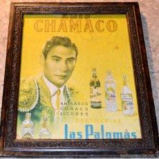 Antiguo cartel ANIS CHAMACO. Años 50-60