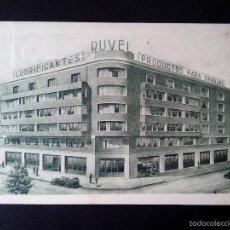 Coleccionismo de carteles: TARJETA PROPAGANDA RUVEL LUBRIFICANTES AMERICANOS. Lote 57387978