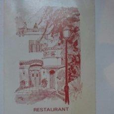Coleccionismo de carteles: TARJETA PUBLICITARIA DE RESTAURANTE - AÑOS 80 --REFALYAEMCOVITI4CARO. Lote 57669087