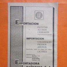 Coleccionismo de carteles: PUBLICIDAD 1947 - COLECCION INDUSTRIAS - LA BAÑEZA LEON EXPORTADORA BAÑEZANA . Lote 57800971