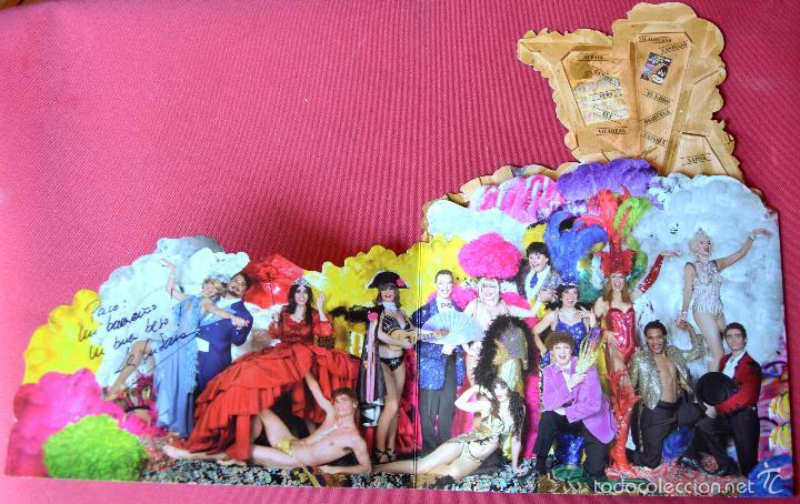 Coleccionismo de carteles: COMPAÑIA DE TEATRO LA CUBANA - CARTEL FOLLETO TRIPTICO - FELIZ NAVIDAD 2009 - CON DEDICATORIA - Foto 2 - 57821226