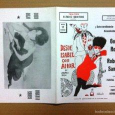Coleccionismo de carteles: DESDE ISABEL CON AMOR,TEATRO ALVAREZ QUINTERO.QUESADA. Lote 57865836