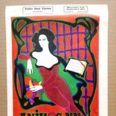 Coleccionismo de carteles: ANILLOS PARA UNA DAMA.TEATRO IDEAL CALAHORRA,LA RIOJA.. Lote 195367197