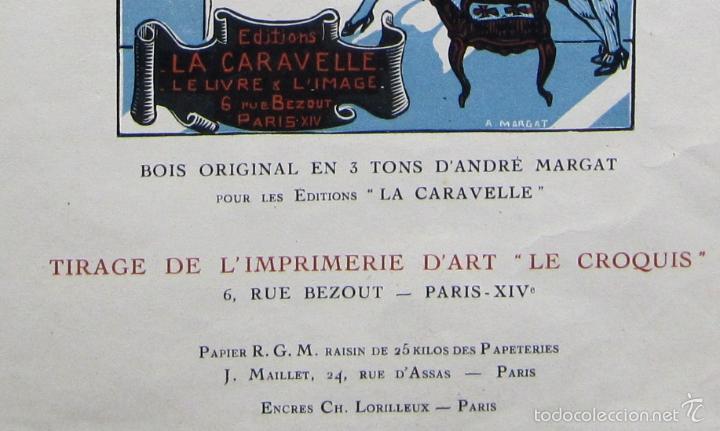 Coleccionismo de carteles: CARTEL L'ANTOLOGIE POLISSONNE. GRABADO DE ANDRÉ MARGAT. ART DECO. EDITIONS LA CARAVELLE, 1927. - Foto 3 - 58109608