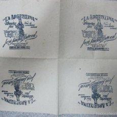 Coleccionismo de carteles: CARTEL,ENVOLTORIO DE TIENDA,PUERTO DE SANTA MARÍA,CÁDIZ,LA ARGENTINA,MUY RARO,VER LAS FOTOS. Lote 58124658