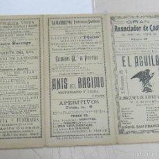 Coleccionismo de carteles: GRAN ANUNCIADOR DE CADIZ. Nº 69. PUBLICIDAD DE EPOCA. HOTEL VICTORIA, GRIZTNER, LA ROSA DE ORO, ETC.. Lote 58392209