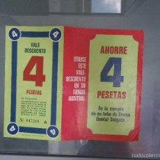 Coleccionismo de carteles: PUBLICIDAD COLGATE (VALE DESCUENTO). Lote 58488862