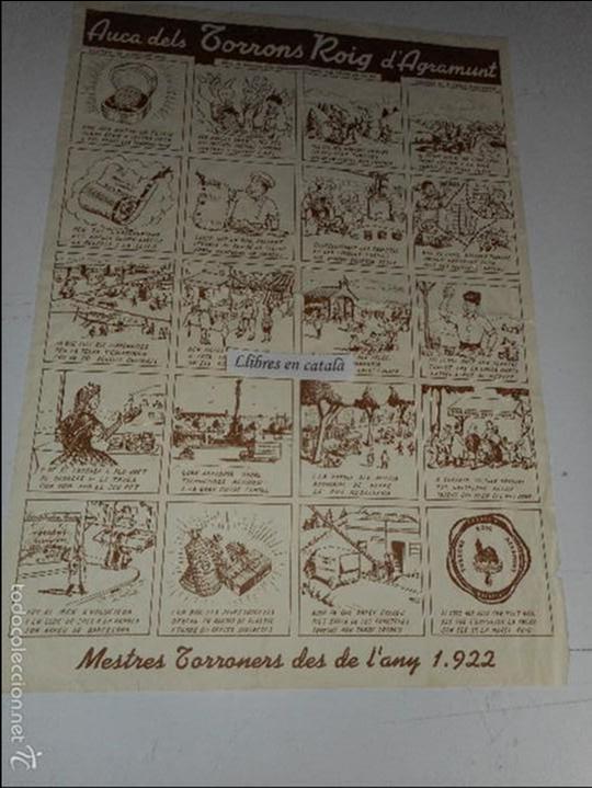 AUCA DELS TORRONS ROIG D'AGRAMUNT 48'5 CM. X 34 CM. (Coleccionismo - Carteles Pequeño Formato)