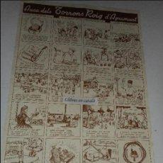 Coleccionismo de carteles: AUCA DELS TORRONS ROIG D'AGRAMUNT 48'5 CM. X 34 CM.. Lote 58635503