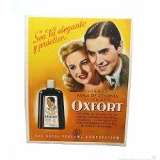 Coleccionismo de carteles: CARTEL PUBLICITARIO DE CARTON PARA MOSTRADOR OXFORT TYRONE POWER - AÑOS 30-40. Lote 58720932