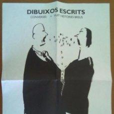 Coleccionismo de carteles: CARTEL PROGRAMA DIBUIXOS ESCRITS JOMA EXPOSICIO LLIBRERIA ONA BARCELONA 1994. Lote 58978430