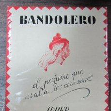 Coleccionismo de carteles: CARTEL PUBLICITARIO ANTIGUO DE CARTON. BANDOLERA. JUPER, BARCELONA. 20,5 X16,4 CM. Lote 61312815