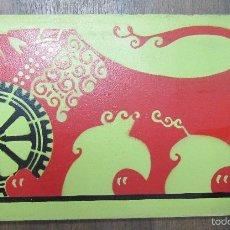 Coleccionismo de carteles: CARTEL PUBLICITARIO ANTIGUO DE MADERA. ALFOMBRAS IMPERIAL. 24X45 CM. Lote 61313623