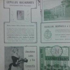 Coleccionismo de carteles: CHOCOLATES CAFÉS Y TES COMPAÑIA COLONIAL MADRID.AÑO 1910.HOJA PUBLICIDAD. Lote 61585696