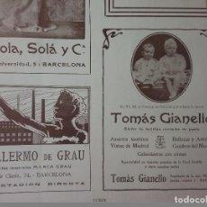 Coleccionismo de carteles: TOMAS GIANELLO.EDITOR DE TARJETAS POSTALES DE GUSTÓ. AÑO 1910.HOJA PUBLICIDAD.MADRID. Lote 61933904