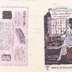 Coleccionismo de carteles: LITOGRAFIA AÑOS 20 - JUAN L. COLL / INGENIERO – ALZAMORA / FABRICACION DE PULPAS. Lote 62250260