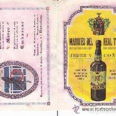 Coleccionismo de carteles: LITOGRAFIA AÑOS 20 - MARINOGENO / CONTRA EL MAREO – MARQUES DEL REAL TESORO / JEREZ Y COÑACS. Lote 62250336