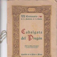 Coleccionismo de carteles: CABALGATA DEL PREGON CASTELLON 1952. Lote 62250860