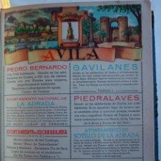 Coleccionismo de carteles: LÁMINA COLECCIÓN PUBLICIDAD PROPAGANDA TELÉFONO ANUARIO TELÉFONICO PROVINCIA DE ÁVILA 1954-1955. Lote 62253100