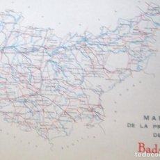 Coleccionismo de carteles: LÁMINA COLECCIÓN PUBLICIDAD PROPAGANDA TELÉFONO ANUARIO TELÉFONICO PROVINCIA DE BADAJOZ 1954-1955. Lote 62253428