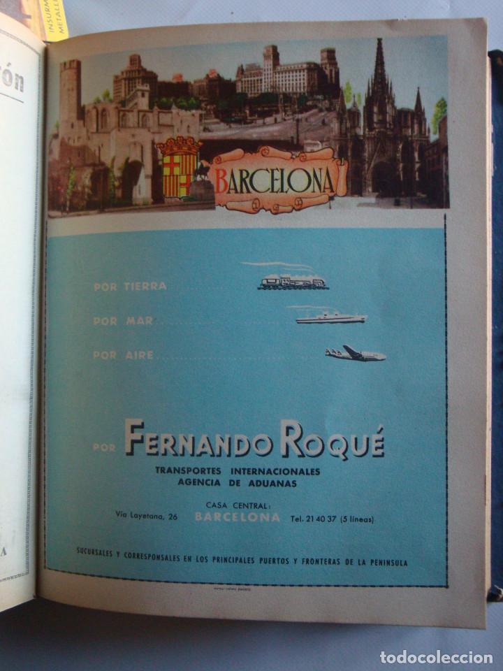 Lámina colección publicidad propaganda Fernando Roqué transportes provincia de Barcelona 1954-1955 segunda mano