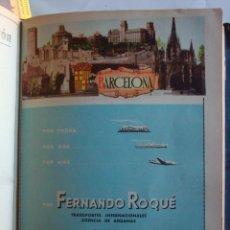 Coleccionismo de carteles: LÁMINA COLECCIÓN PUBLICIDAD PROPAGANDA FERNANDO ROQUÉ TRANSPORTES PROVINCIA DE BARCELONA 1954-1955. Lote 62253852