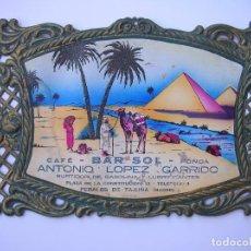 Coleccionismo de carteles: CARTEL . TROQUELADO . DECORACION . BAR, HOSTAL, HOTEL, CASA RURAL. Lote 62277968