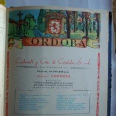 Coleccionismo de carteles: LÁMINA COLECCIÓN PUBLICIDAD PROPAGANDA CARBONELL LA CAMPANA JOSE MOLLEJA PROVINCIA CÓRDOBA 1954-1955. Lote 62279376