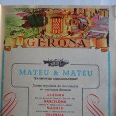 Coleccionismo de carteles: LÁMINA COLECCIÓN PUBLICIDAD CALCETINES MOLFORT`S MATEU & MATEU PROVINCIA DE GERONA 1954-1955. Lote 62280108